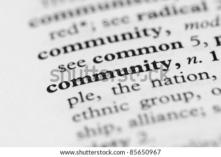 Dictionary Series - Community - stock photo