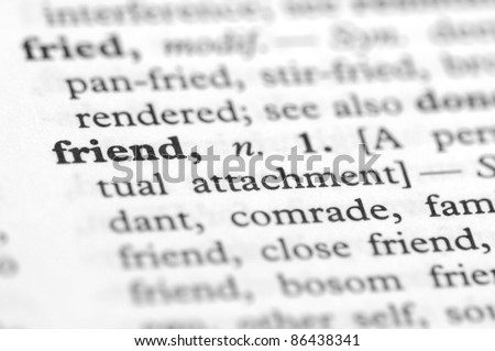 Dictionary Series - Friend - stock photo