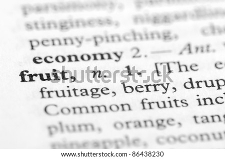 Dictionary Series - Fruit