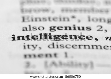 Dictionary Series - Intelligence - stock photo