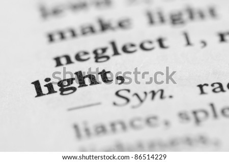 Dictionary Series - Light - stock photo