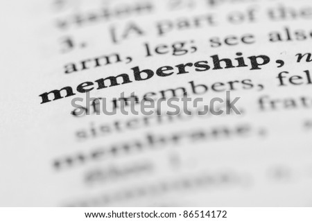 Dictionary Series - Membership - stock photo
