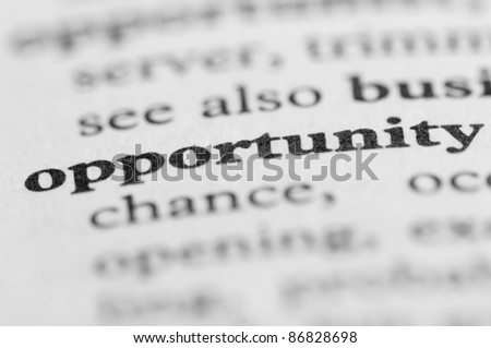 Dictionary Series - Opportunity - stock photo