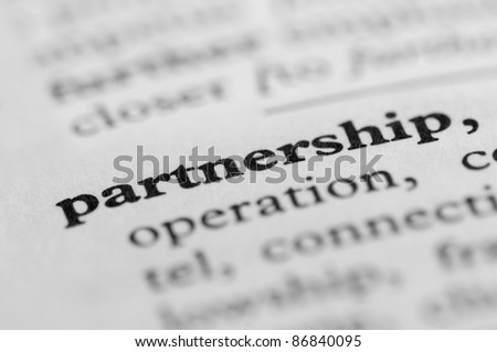 Dictionary Series - Partnership - stock photo