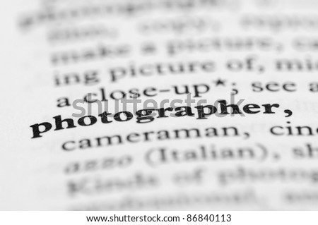 Dictionary Series - Photographer