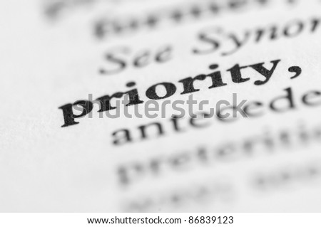 Dictionary Series - Priority - stock photo