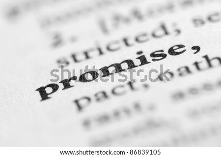 Dictionary Series - Promise