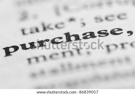 Dictionary Series - Purchase - stock photo