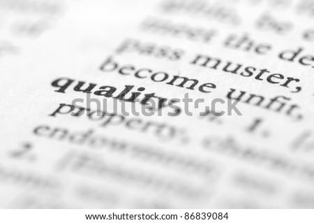 Dictionary Series - Quality - stock photo