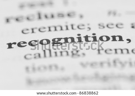 Dictionary Series - Recognition - stock photo