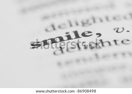 Dictionary Series - Smile - stock photo