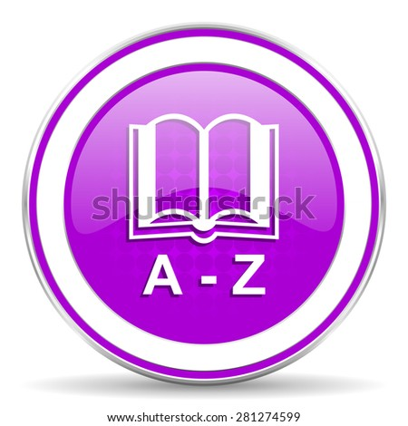 dictionary violet icon  - stock photo