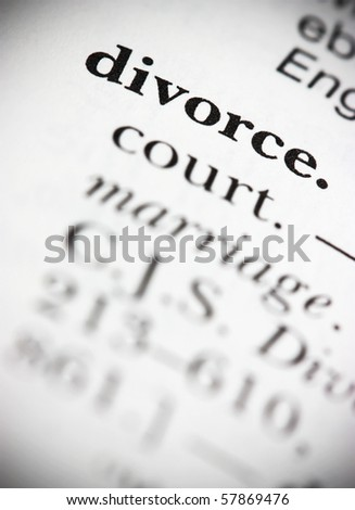 Dictionary Word Divorce - stock photo