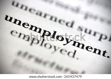 Dictionary Word Unemployment - stock photo