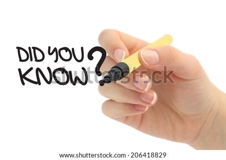 did you know - stock photo