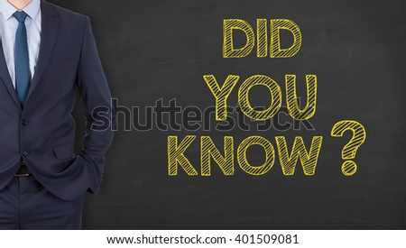 Did You Know on Chalkboard - stock photo