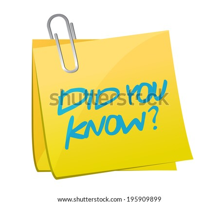 did you know question illustration design over a white background - stock photo