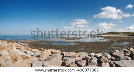 Dielette, Normandy, France - stock photo