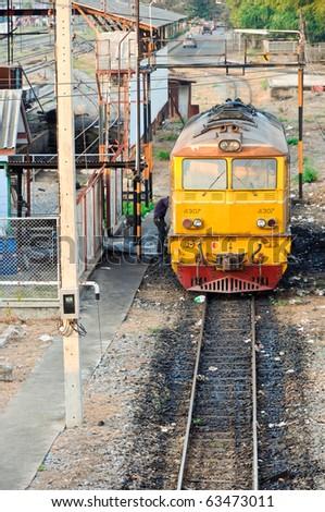 Diesel electric locomotive - stock photo