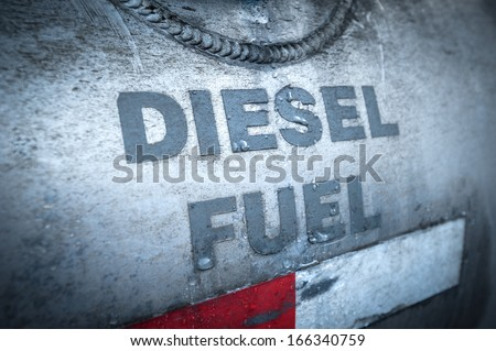 diesel fuel tank - stock photo
