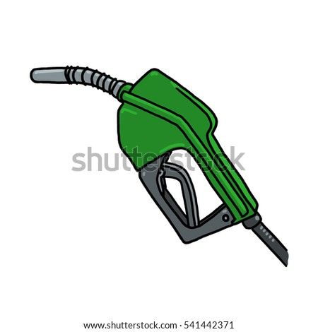 Diesel gas pump nozzle illustration