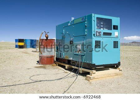 diesel generator - stock photo