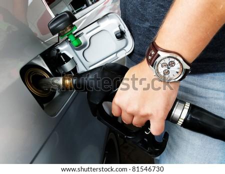 Diesel refueling - stock photo