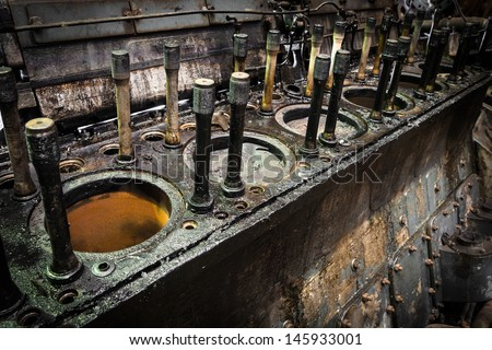 Internal combustion engine stock photos images for Chambre de combustion moteur diesel