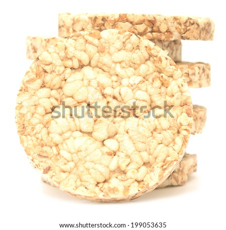 Diet bread isolated on white background
