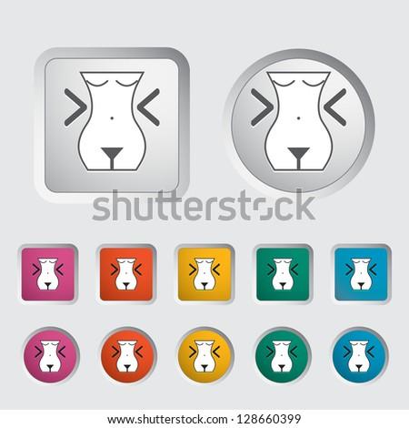 Diet concept icon. Vector version also available in my portfolio. - stock photo