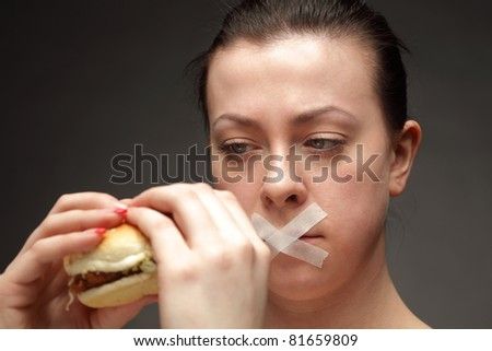 diet concept in low key - stock photo