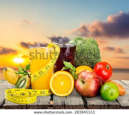 Diet, dieting, slim. - stock photo