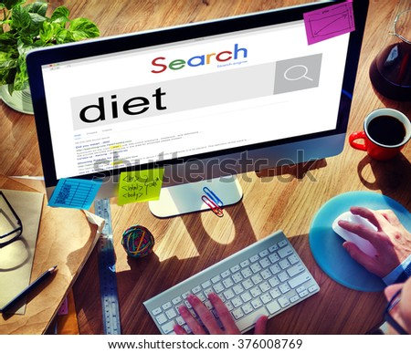 Diet Nutrition Obesity Weight Loss Healthy Food Concept - stock photo