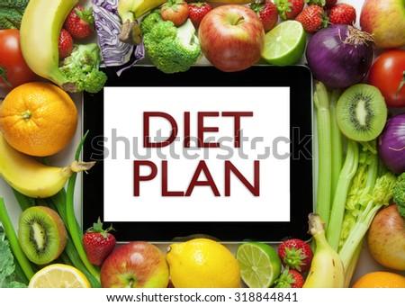 Diet plan - stock photo