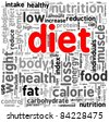 Diet related words concept in tag cloud - stock photo