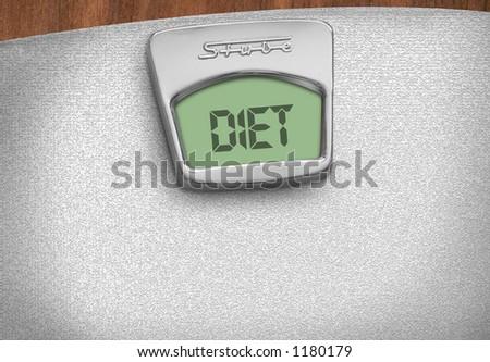 diet scale - stock photo