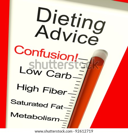 Dieting Advice Confusion Meter Shows Diet Information And Recommendations