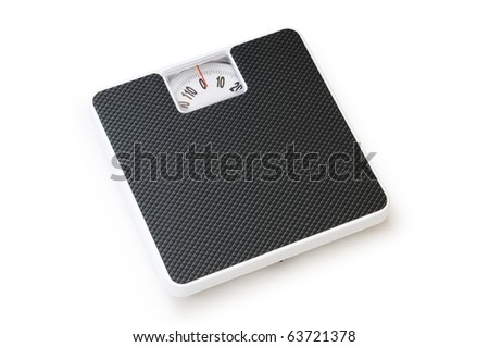 Dieting concept with scales isolated on the white