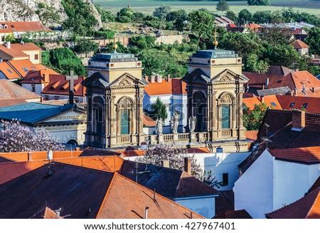 Dietrichstein family tomb in Mikulov town in Czech Republic - stock photo