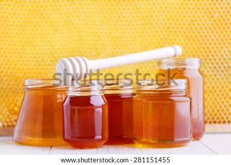 differen kind of honey - food and drink - stock photo