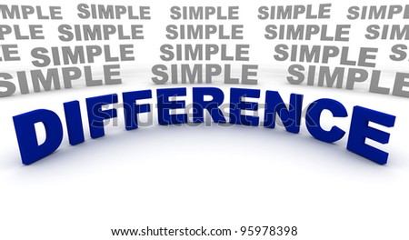 Difference Font 3D