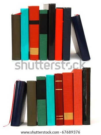 Different books of stack - stock photo