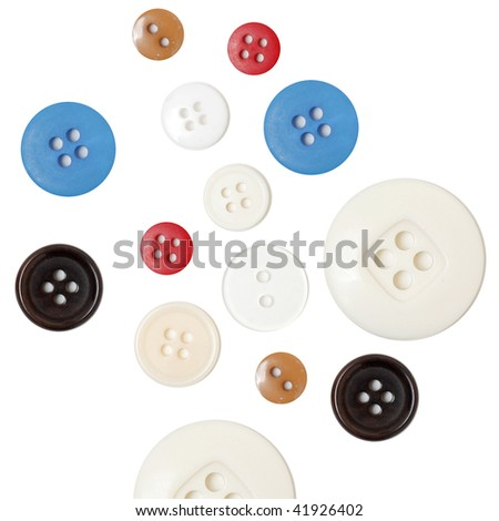Different buttons isolated on white