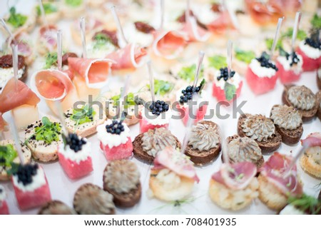 Canape stock images royalty free images vectors for Canape pastry shells