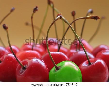 Different cherry - stock photo