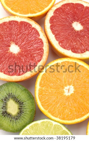different citruses background