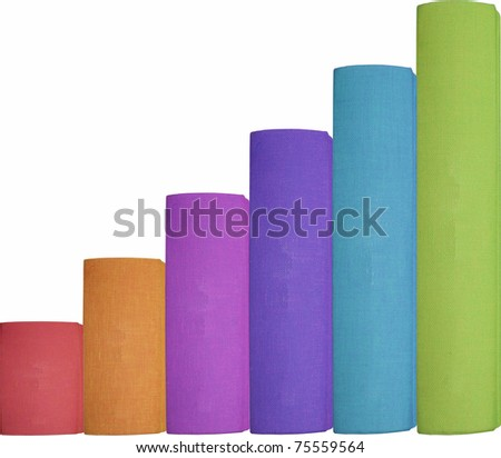 different color books arranged as steps representing progress or education - stock photo