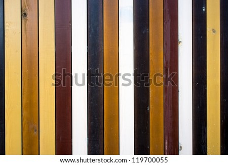 Different color planks background - stock photo