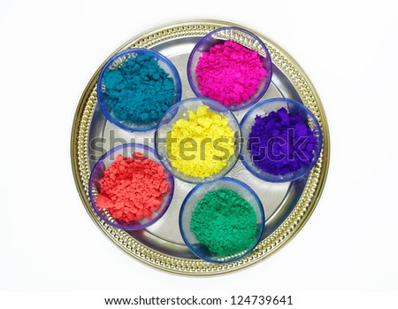 Different colors for holi festival - stock photo