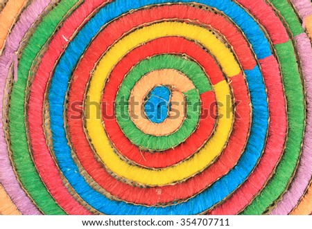 different colourful carpet - stock photo